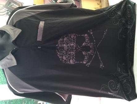 Skull darts shirt with zip and pocket - 2 colours
