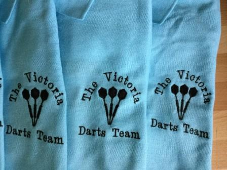 Two Colour Polo Shirt choice of Dart design & Name