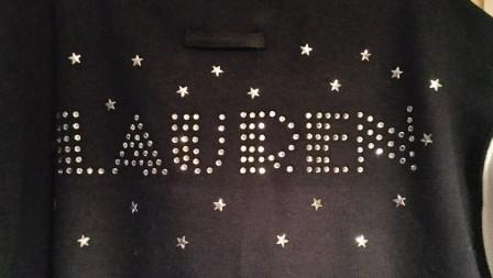Xtras - Crystal name on back with Stars